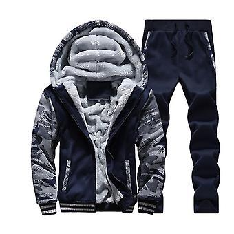 Winter Coat, Men Inner Fleece Thick Hooded Parka Clothing