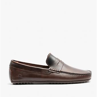 Chatham Timor G2 Mens Leather Driving Moccasin Shoes Dark Brown