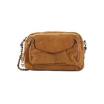 PIECES PCNAINA Leather Cross Over Noos, Women's Folder Bag, Cognacaop: Glossy Snake, Keine Angabe