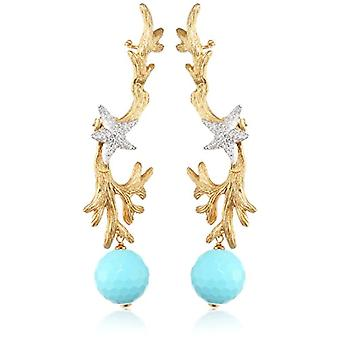 Misis Woman-Earrings Hippocampus Silver 925 White Zircons Agata 8 cm - OR09197