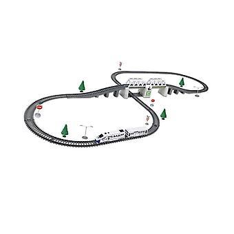 Model set de trenuri electrice, cale ferată de mare viteză.