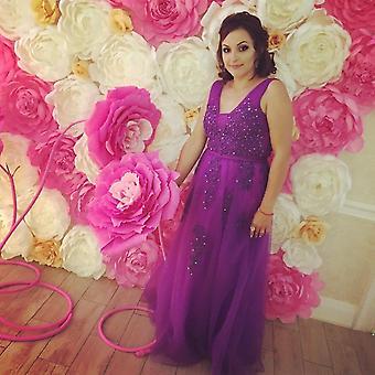 Long Bridesmaid Dresses, Lace-up Wedding Party Dress