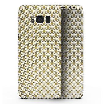 Folha branca e dourada V3 - Samsung Galaxy S8 Kit de Pele de Corpo Inteiro