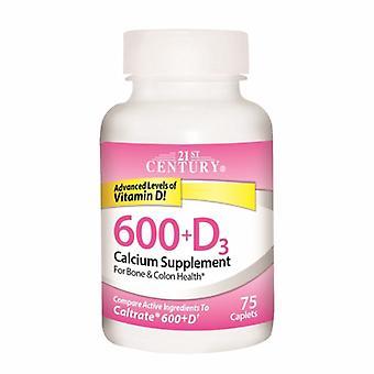 21st القرن الكالسيوم 600 + فيتامين (د) 3، 75 كابليت