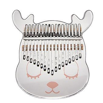 Kalimba Thumb Piano 21 Teclas Cartoon Deer Acrilic Mini Portátil Musical Instrument para crianças