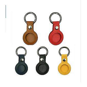 5pcs For Apple Airtag Leather Case Cover For Airtags Keychain Sleeve Shell Skin