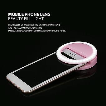 Relógio Selfie Light Ring Clip Luminous Lamp Led Flash Light Phone Ring