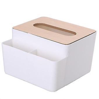 Huishoudelijke houten plastic tissue box servet holde