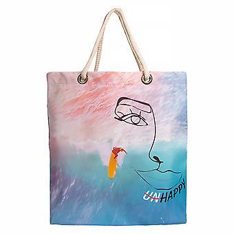 Biggdesign Faces Happy Beach Bag