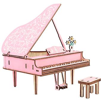 Piano Wooden Stereo Puzzle Children's Handmade Educational Toys