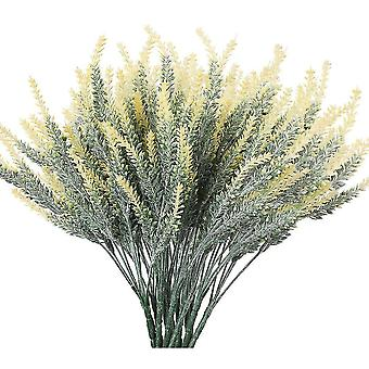 Artificial Lavender Flowers Fake Plants With Fake Plastic Wedding Bouquet For Home Kitchen Decor