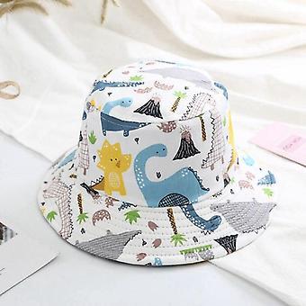 Baby bucket hat lasten kesä korkit pojille dinosaurus print panama hattu lapset kalastaja caps tytöt ranta korkki casquette