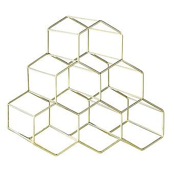Storage Stand Holder Geometric Hexagon Shelf Design Rack