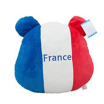 فرنسا العلم الدب Plush وسادة القطنية