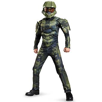 Master Chief Halo Classic Muscle Video Games Dress Up Tween Boys Costume XL