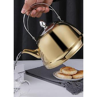 קומקום תה מעולה 304 קומקום מים מפלדת אל חלד עם קומקום תה קנקן קפה תה מסנן