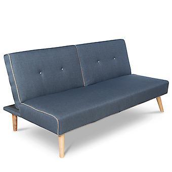 Divani Letto - Moderno - Blu - Poliestere - 85 cm x 180 cm x 53 cm