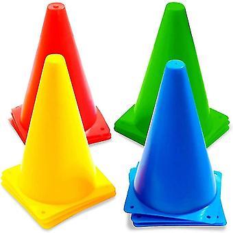 Security signs 12 signaling cones  studs  circulation cones  23cm - solid