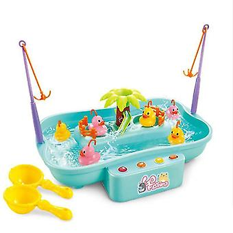 Fishing toys children's water toys fishing platform electric music lighting water cycle game kids toys
