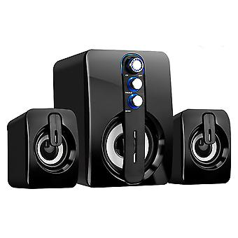 Computer Speakers, Bluetooth Speaker With Enhanced Stereo Bass Dual
