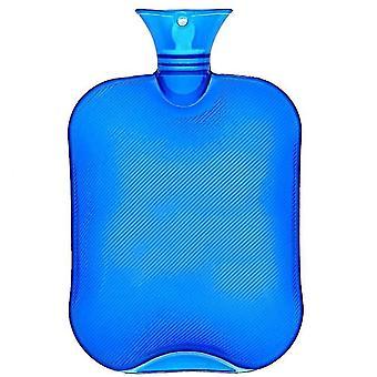 2l Heißwasserflasche für Schmerzlinderung Heiße Therapie klassische Transparente blau Heißwasserflaschen