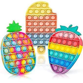 Itech Joy Pop Fidget Toys It 3 Pack Per bambini e adulti, Push Bubble Il suo giocattolo sensoriale Pop Fidget per l'autismo