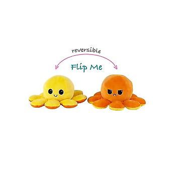 Omkeerbare Octopus Plushie Dubbelzijdige Flip Doll Show Mood Toy