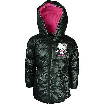 Girls Hello Kitty Winter Hooded Puffer Jacket
