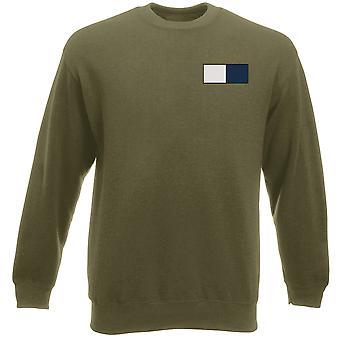 Royal Signals - Stickerei TRF-Logo - offiziellen britischen Armee Schwergewichts-Sweatshirt
