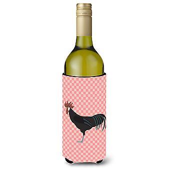 Minorca Ctalalan Chicken Pink Check Wine Bottle Beverge Insulator Hugger