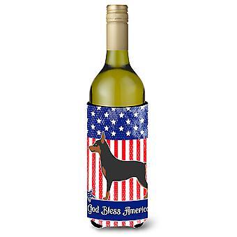 Zwergpinscher amerikanischen Weinflasche Beverge Isolator Hugger