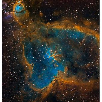 IC 1805 the Heart Nebula Poster Print by Michael MillerStocktrek Images