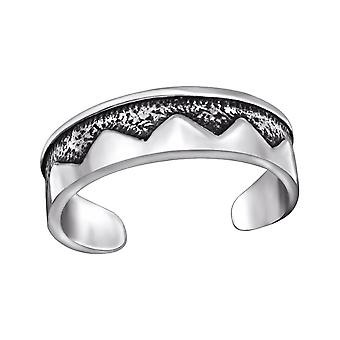 Patterned - 925 Sterling Silver Toe Rings - W29415x