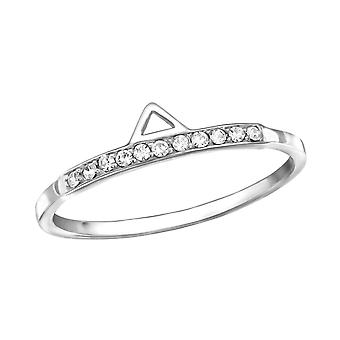 Geometric - 925 Sterling Silver Jewelled Rings - W30628X