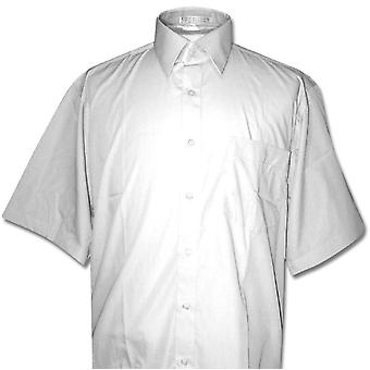 Covona Men's Short Sleeve Solid Dress Shirt