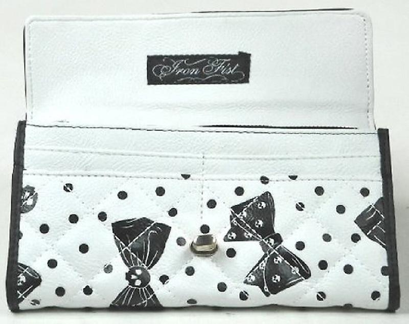 Iron Fist Cream/Black Bowed Over Large Wallet