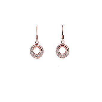 Womens Rose guld Dingla Örhängen smycken med kristall stenar Mix och matcha smycken