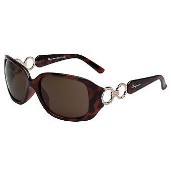 Elegant sunglasses for women by Burgmeister with 100% UV protection | solid polycarbonate frame, high quality sunglasses case, microfiber glasses pouch and 2 years warranty | SBM125-242 Hawaii