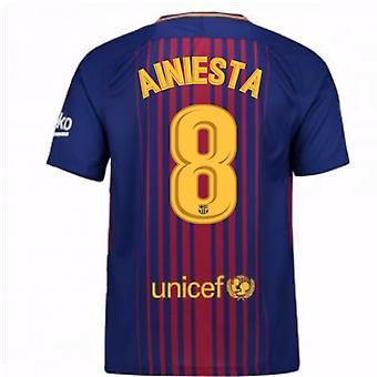 2017-2018 Barcelona Home Shirt (A.Iniesta 8)