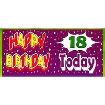 18ème géant anniversaire bannière
