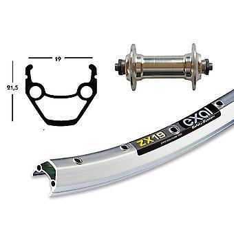 Bike parts 28″ front wheel Exal ZX 19 + standard aluminium hub (QR)