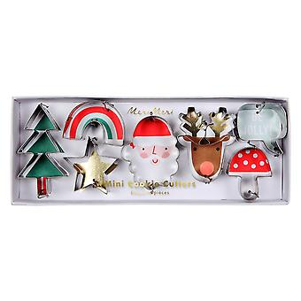 Meri Meri mini Christmas cookie Craft cutters sett av 7 Tree Santa reinsdyr