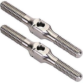 Equipe C TU0123 peça de reposição Titanium threaded Rod (3 x 30 mm)