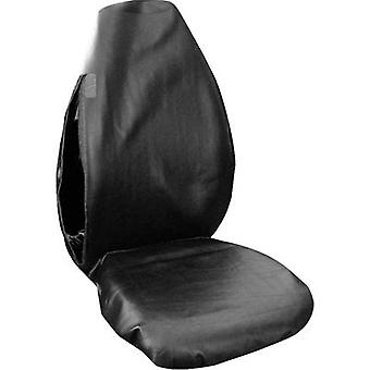 Eufab 28114 Dirt cover 1-piece Faux leather Black Drivers seat