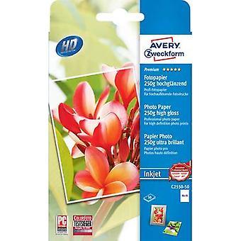 Avery-Zweckform Premium Photo Paper Inkjet C2550-50 Photo paper 10 x 15 cm 250 g/m² 50 sheet High-lustre