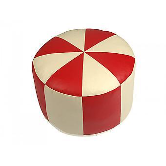 Amortiguador de asiento cuero sintético rojo/champagne 3682104 Ø 50/34 cm