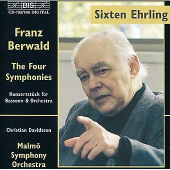 F. Berwald - Franz Berwald: De vier symfonieën & Konzertst Ck voor fagot & Orchestra [CD] USA import