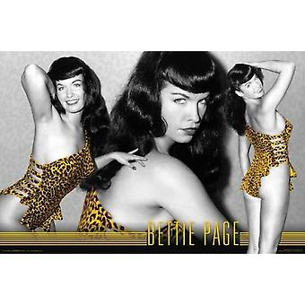 Bettie Page - Leopard Poster Poster Print