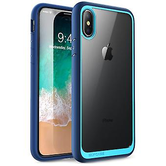 iPhone Xs Max case, [Unicorn Beetle Style] Premium Hybrid Protective Clear Case 2018 Release (Blue)