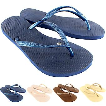 Havaianas para mujer Slim cristal Glamour Sw Flip Flop sandalias de verano